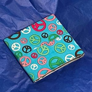NWOT Peace Duct Tape Wallet